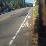 Debris in bike lane / Lane too narrow