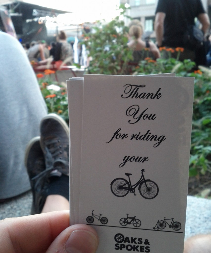 Thank you for riding your bicycle.  You're awesome.