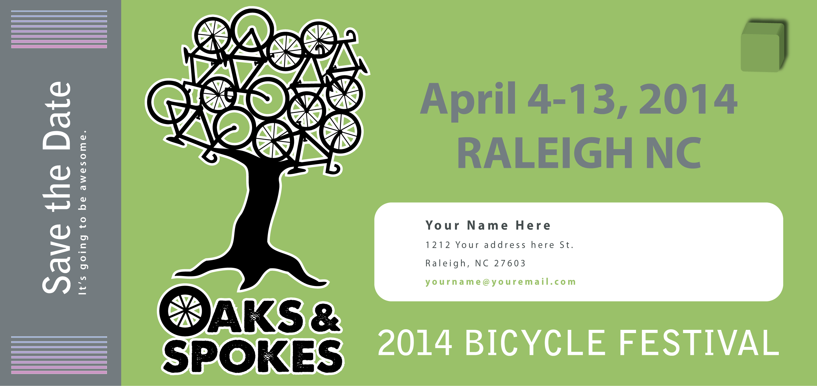 The Oaks and Spokes bicycle festival will take place April 4-13, 2014!