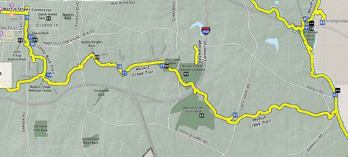 Walnut Creek to Neuse River Trail a new escape from downtown