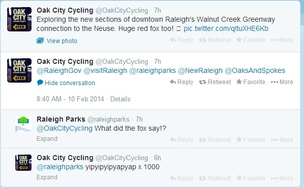 Raleigh Parks tweet
