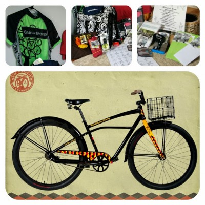 Win a New Belgium cruiser bike, Oaks and Spokes jersey, gift certificates, a beard shave, a haircut, and much much more!