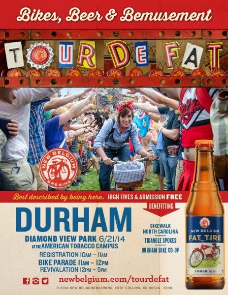 Tour de Fat comes to Durham on July 21, 2014 benefiting local bicycle-afflicted charities!