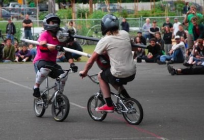 Example of Bike Jousting!