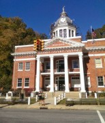 Biking in the NC Mountains - Madison County Courthouse in Marshall, NC